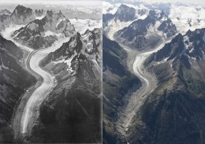 CChamonix glacier receding